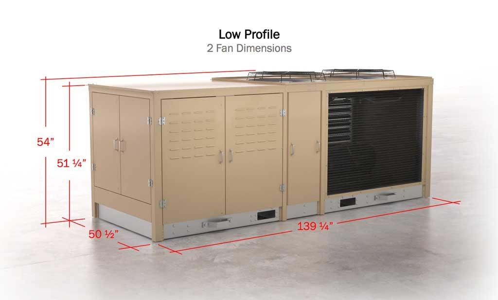 Adatapak Refrigeration System Low Profile Benefit