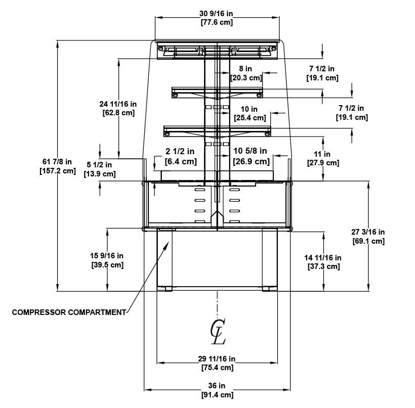 HVI-3-305-SC-EC Small Format Display Case