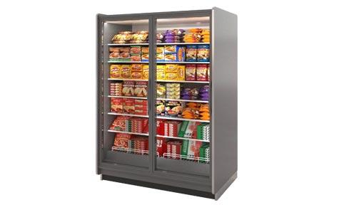 VNRB glass door reach-in low temperature display case