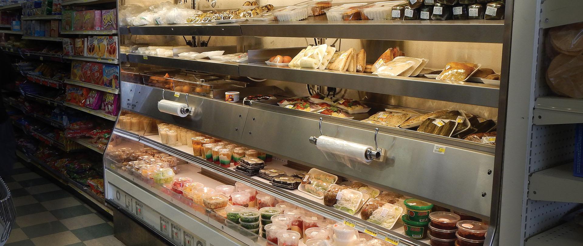 htpt deli  hot cold combination display case for deli