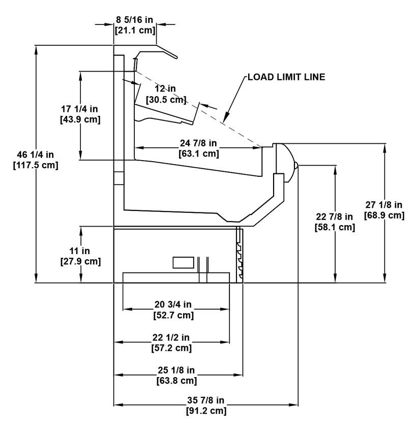 ON2UM-NRG utility multi-deck cross merchandiser: product specification sheet.