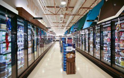 ORZH-PV high glass door reach-in low-temperature frozen food and ice cream merchandiser.