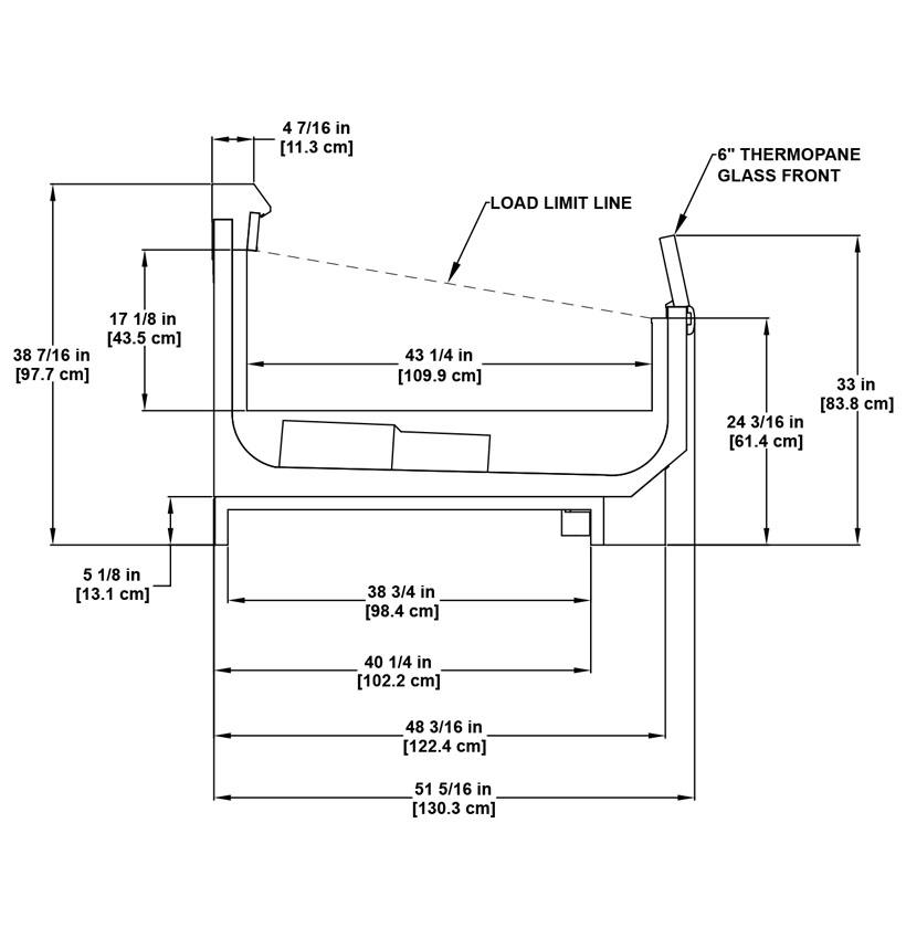 OWZ utility multi-deck frozen merchandiser: product detail specification sheet.