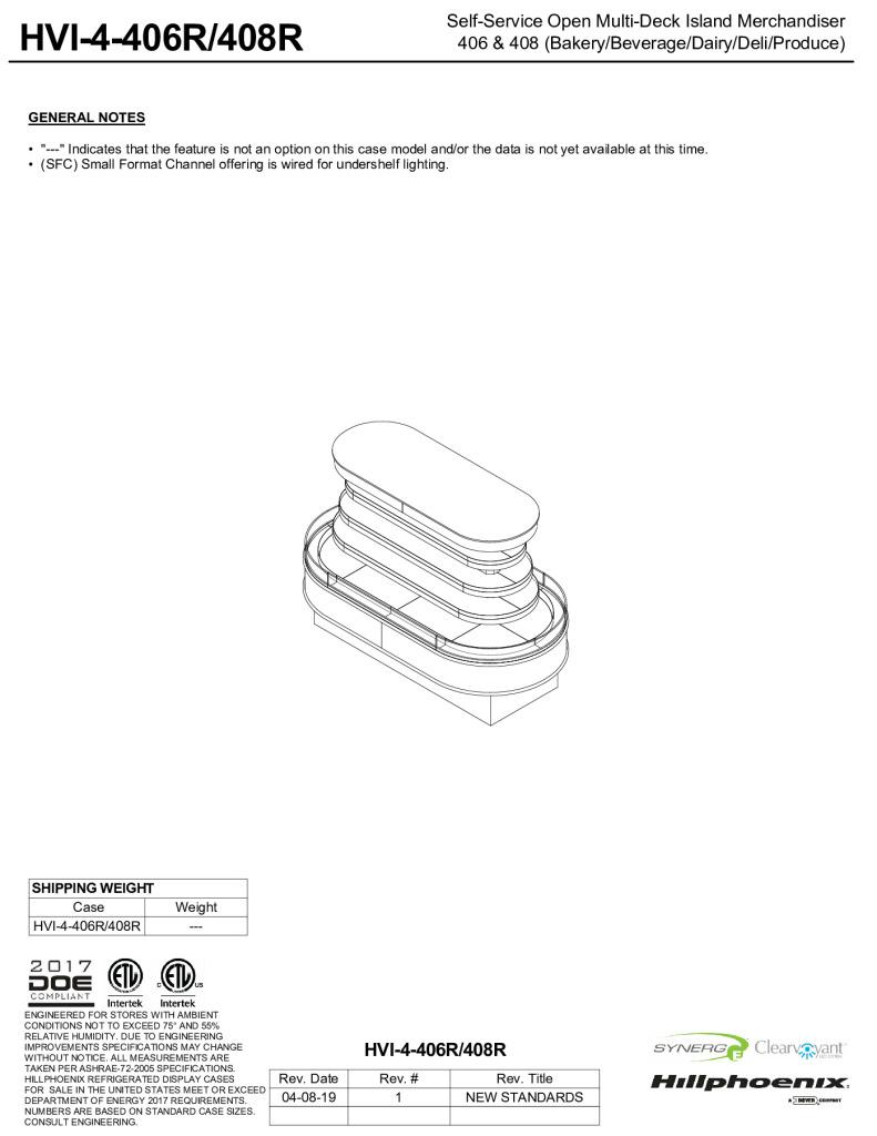 thumbnail of SFC_HVI-4-406R_HVI-4-408R-display-case-tech-reference-sheet-R1-V0