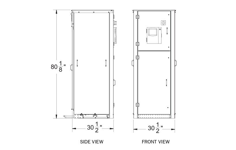 Hillphoenix Vertical InviroPak distributed indoor refrigeration system 4 compressor dimensions