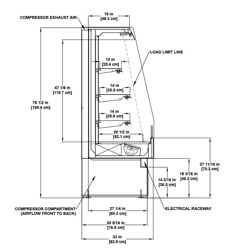 CF-FS Self-Service Multi-Deck Medium Temperature General Merchandiser Profile