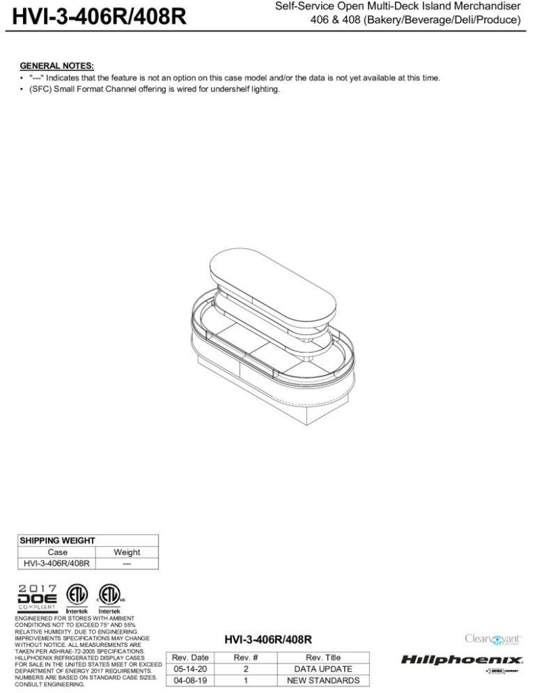 thumbnail of HVI-3-406R-408R-display-case-tech-reference-sheet-v1