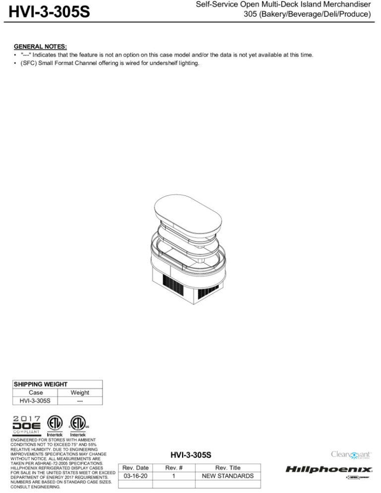 thumbnail of HVI-3-305S-display-case-tech-reference-sheet