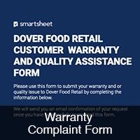 Warranty Complaint Form