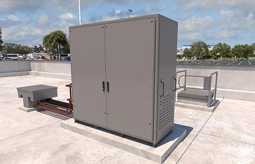 Advansorflex-Mini CO2 refrigeration system outdoors